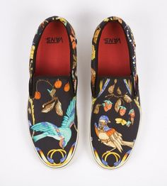 All sizes | Custom Vans - Vintage Hermes Scarves | Flickr - Photo Sharing! #shoes #birds #hrmes #vans #fashion