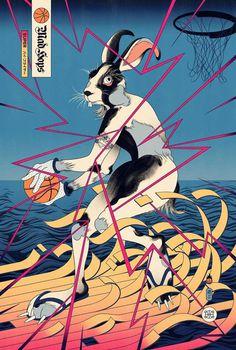 Edo Ball: Illustrations Based on Japanese Mythology and Culture by Andrew Archer