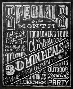 BLACK #menu #chelkboard #typography