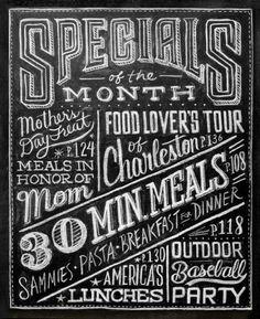 BLACK #menu #chelkboard #typography