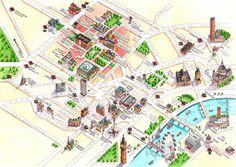 Uk map illustrations by Katherine Baxter