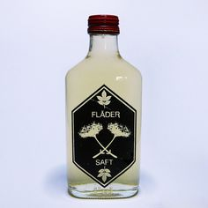Beleonia: Photo #elderflower #bottle #print #screenprint #black #label #flder
