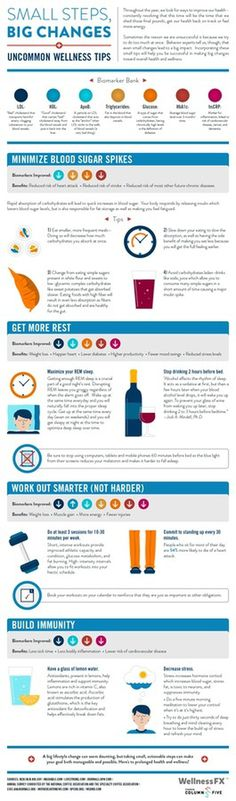 Small Steps, Big Changes: Uncommon Wellness Tips #infographics #tips #health #advice