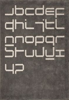 Design Museum Shop: Exhibition Products > Current Exhibitions > Wim Crouwel, A Graphic Odyssey > Wim Crouwel Neu Alphabet Rug #rug #crouwel #wim