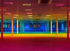 Colorful Light Installations by Liz West – Fubiz™ #installation #colors #rainbow