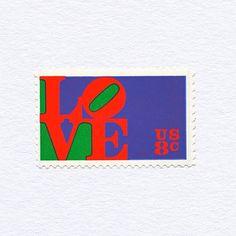 Love, stamp, vintage