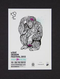 Lodz Design Festival 2012 - poster #visual #design #graphic #illustation #ortografika #identity
