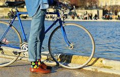 ducksocks.jpg (730×475) #fashion #spring #bike #girl