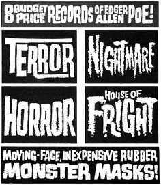 Warren Lettering #lettering #horror #vintage #type #titles