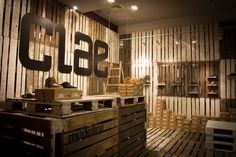4 clae pop up footwear shop by modelina #clae #shoe #store #wood #panels