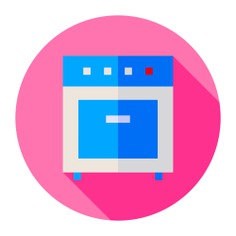 See more icon inspiration related to oven, electric appliances, food and restaurant, furniture and household, kitchenware, house things, electronics, device, cook, cooking and tool on Flaticon.