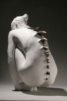 tumblr_lfa5lpLQQn1qa0m3lo1_500.png 409 × 613 Pixel #white #sculpture #woman #mike ballan