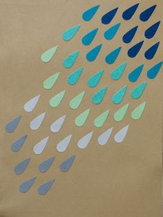 Rain - carotilla's blog #craft #rain #origami #cutting #punch #paper