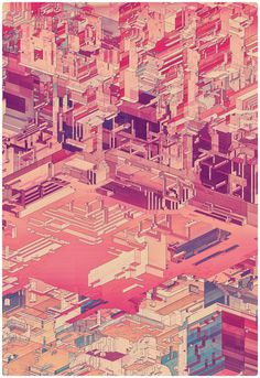 Pixel City - atelier olschinsky #isometric #pixel