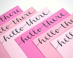 plenty of colour #handwriting #paper #pink