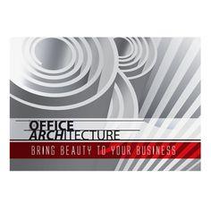 Office Architecture Single Pocket Folder Template