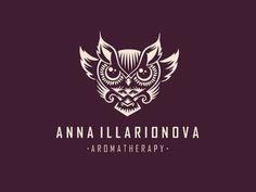 Anna Illarionova #logo #illustration #owl #branding
