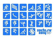 Piktogramme Olympia 2014 Sochi #pictogram #iconography #icon #sign #picto #olympia #symbol #sport