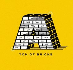 Ton of Bricks #ron #illustration #bricks #lewis