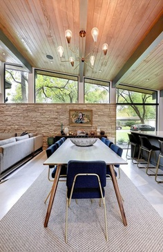 Central Austin House Remodeled in the Spirit of the Original Mid-Century House 7, dinning room