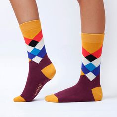 Diamond - Ballonet Socks #colourful #creative #funky #socks #fun #sock