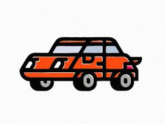 Vroom by Pat Iadanza #car #illustration #screenprint