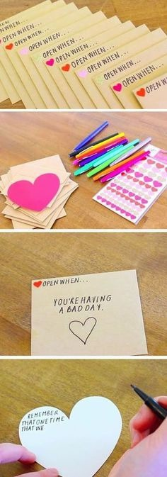 Open When Envelopes | 23 DIY Valentines Crafts for Boyfriend