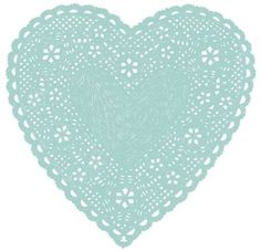 coqueterías - Much Love Blue by ashleyg on Etsy #heart #papercut #doily #celeste