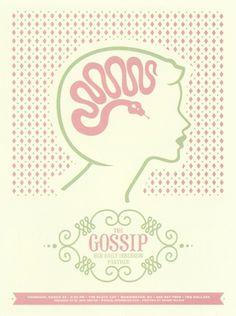 gossip | coqueterías #pink #print #poster