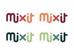 Mixit Rebranding on the Behance Network #logo #minimalist #geometric #chpiku