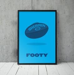A-Z of Aussie Slang #print #slang #illustration #footy #poster #blue #football #shades #aussie