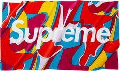 Supreme Abstract Beach Towel  All cotton terry with printed graphic.
