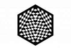 Pentagram #chess #white #branding #world #black #and #hexagon
