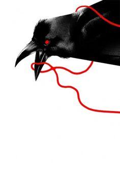 201012132115459a4.jpg (JPEG Image, 523x800 pixels) #bird #drawing #black #crow #beek