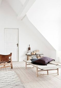 Vintage and Modern Scandinavian Interior Design Pieces are Combined With Vintage Moroccan Rugs