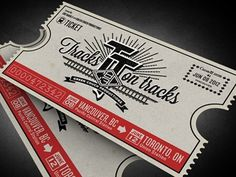 Dribbble - Tracks on Tracks by Ben Didier #music #type #tickets #logo