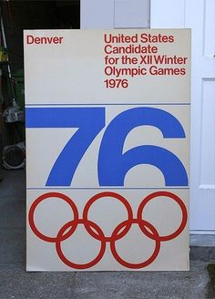 United States Candidate for the XII Winter Olympic Games Poster Designed by Guenther Tetz, from the Denver office of Unimark International.