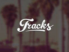 Tracks logo #music #logo #logotype #typography