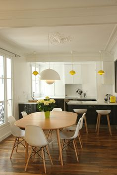 kitchen and dining room. Parquet