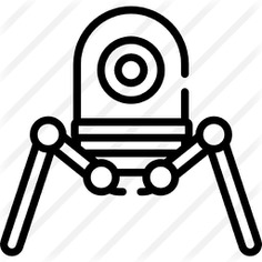 See more icon inspiration related to android, automaton, futurist, futuristic, Science fiction, cyborg, robotic, robot, electronics, industry, machine and technology on Flaticon.