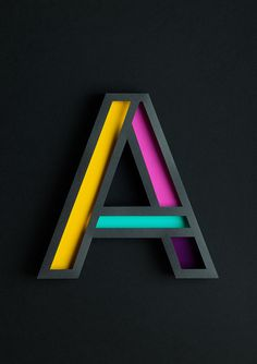 Atype on Behance #type #letter #paper #craft
