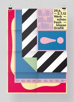 Werkschau 2012 « FEIXEN: Design by Felix Pfäffli #poster #color #stripes #layers #folded