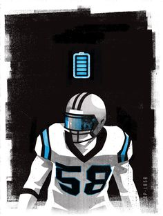 TD1 #Illustration by Matt Stevens #Sports #NFL #Carolina #Panthers #American #Football