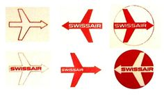 WANKEN - The Blog of Shelby White » Behind the SwissAir Logo #swiss #1950s #airlines #swissair #identity #logo