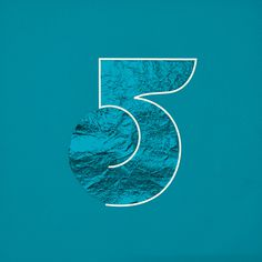 MUTE — 5 #blue #number #typo #typography