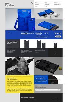 Unit Portables website design. #flat #ui