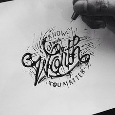 Typeverything.comKnow Your Worth by draw_ul. #dripping #ink #drip #motivational