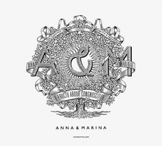 Anna & Marina on the Behance Network #illustration #typeography