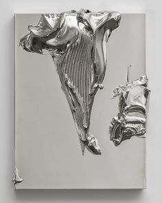 Painting as Sculpture by Jason Martin | PICDIT #painting #sculpture #silver #art