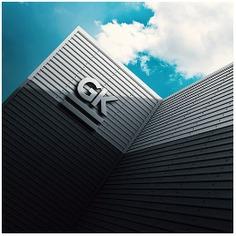 Wayfinding | Signage | Sign | Design | 户外墙体3D企业LOGO形象墙样机PSD模板素材
